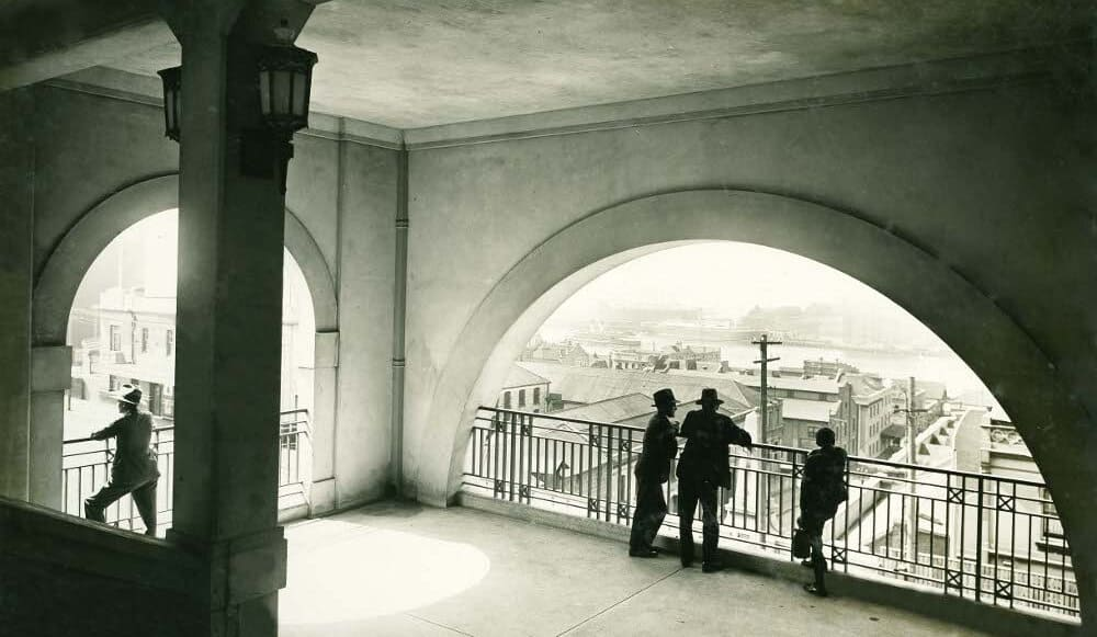 1932_Arched Openings on Landing - Bridge Stairs (from the Sydney Harbour Bridge photo albums) Flickr The Commons