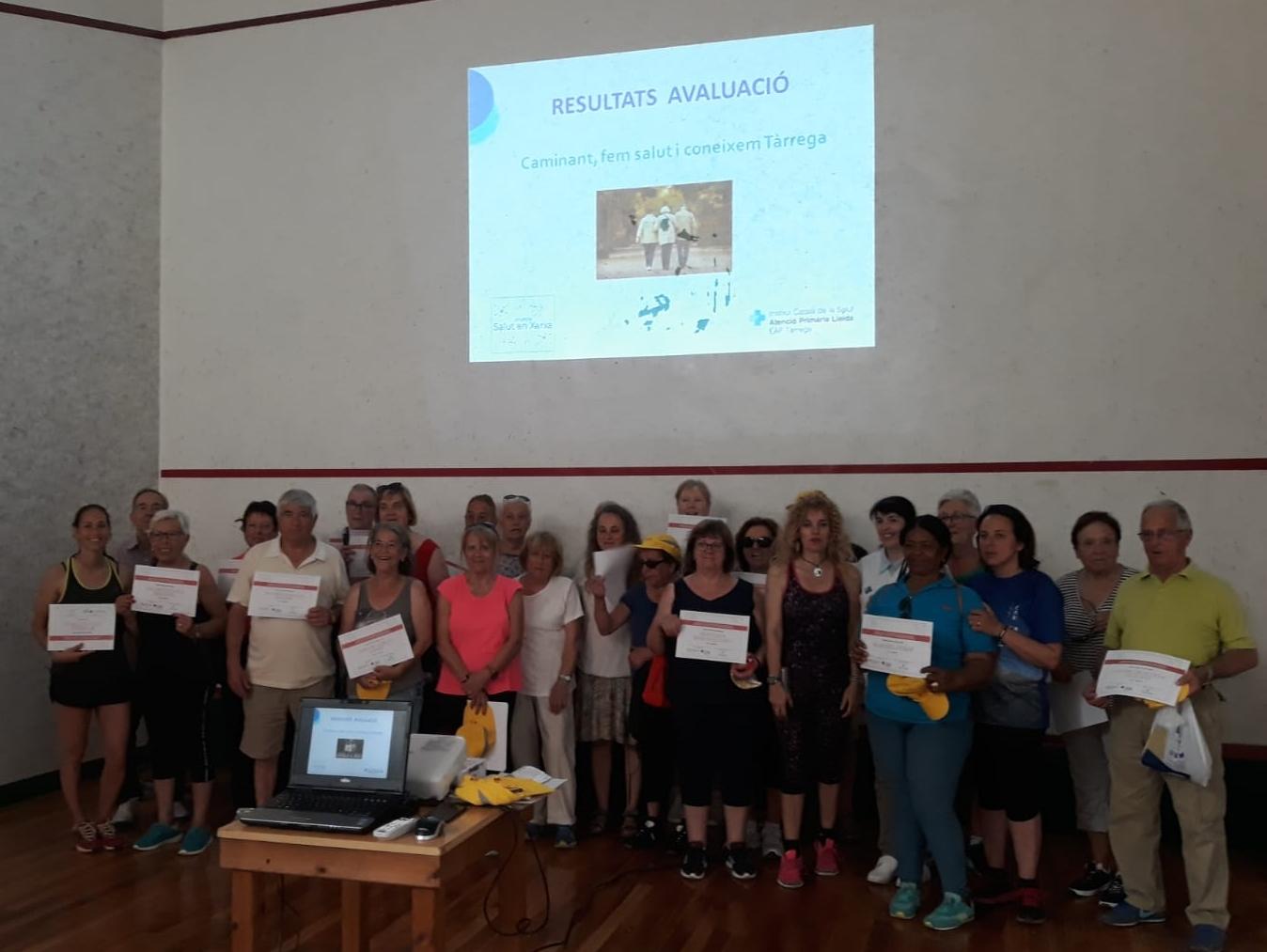 """Més de 80 persones participen en la 1a edició del programa """"Caminant, fem salut i coneixem Tàrrega"""""""