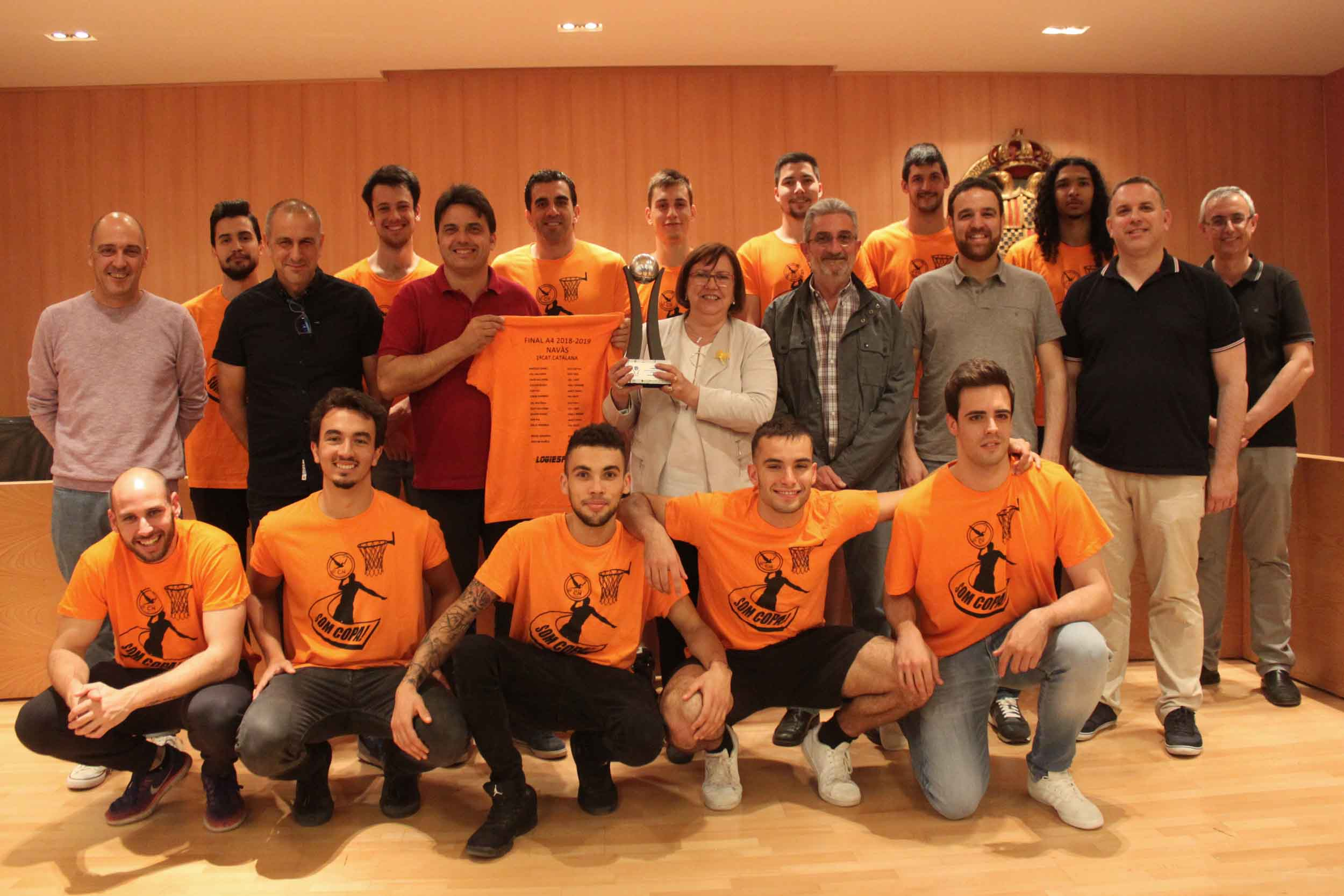 L'Ajuntament de Tàrrega homenatja l'equip Sènior Masculí del Club Natació Tàrrega, campió de Primera Catalana de Bàsquet