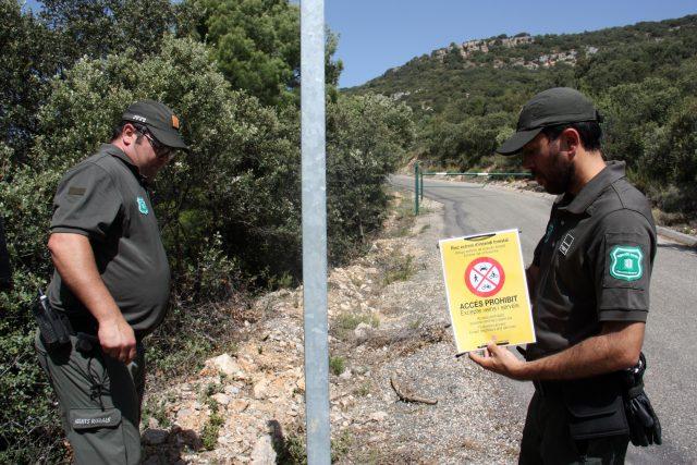 El Govern veta l'accés a Montserrat i cinc massissos més i prohibeix la sega durant 48 hores pel risc d'incendis