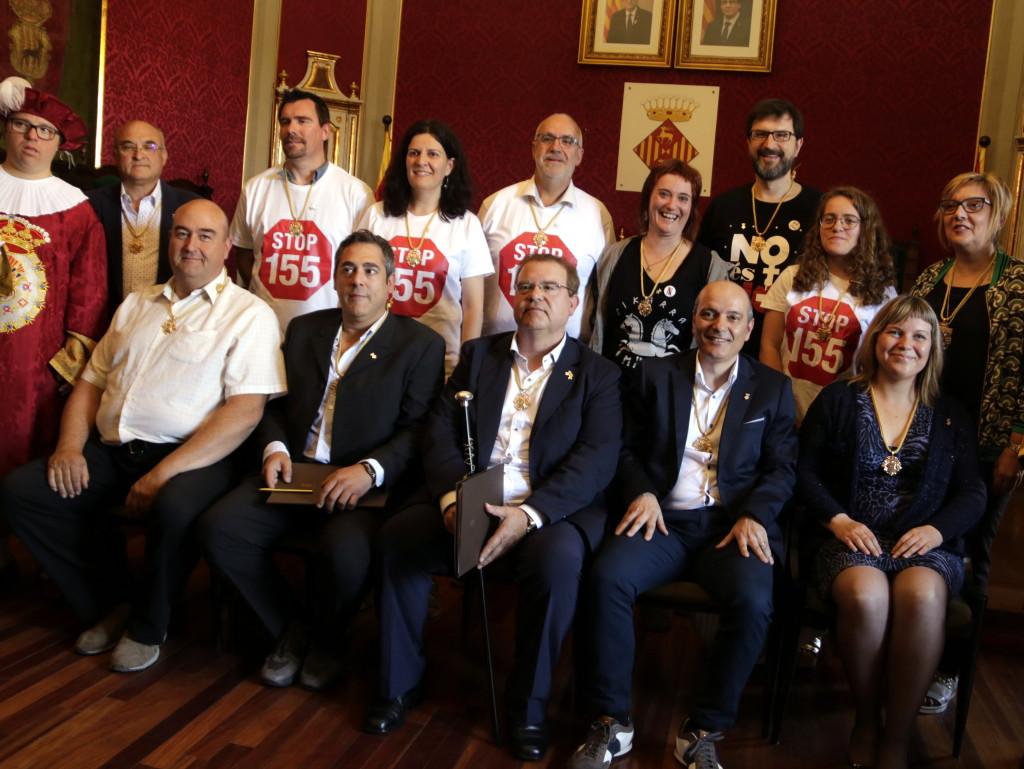 Pla sencer dels regidors i regidores de la nova Paeria de Cervera després del ple d'investidura. El 15 de juny de 2019. (Horitzontal)