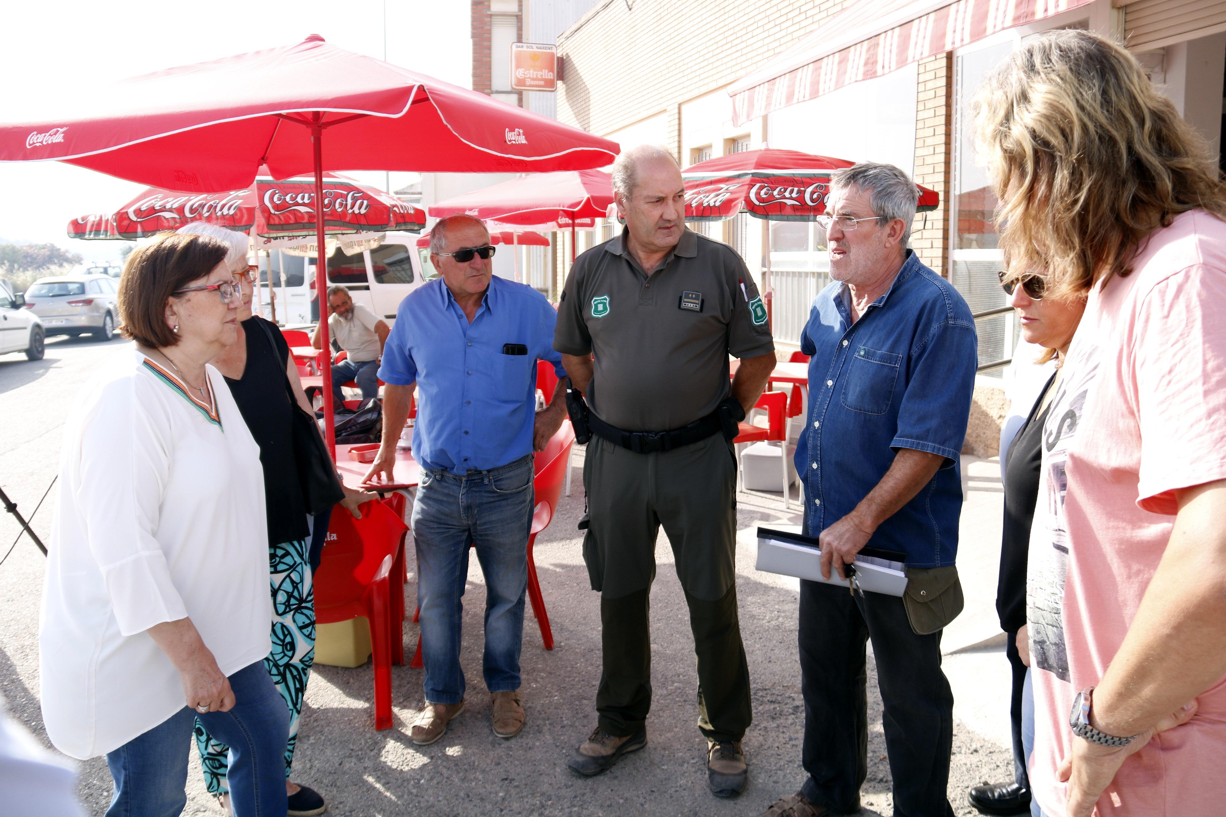 Alcaldes, Govern i Diputació de Lleida, preocupats pel flanc dret de l'incendi de l'Ebre que avança cap a les Garrigues