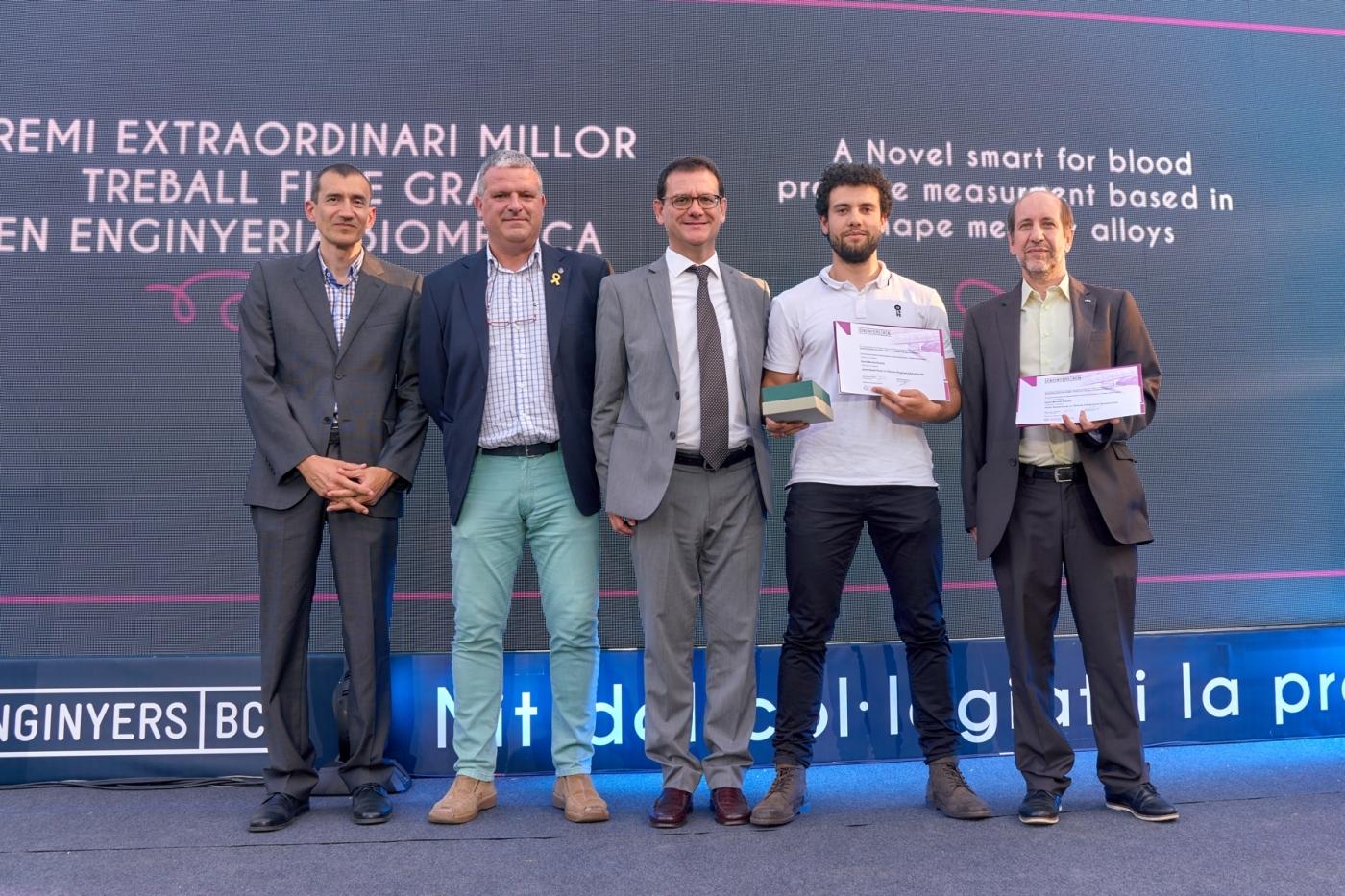 El targarí David Monràs, estudiant de l'EEBE, millor projecte en enginyeria biomèdica 2019