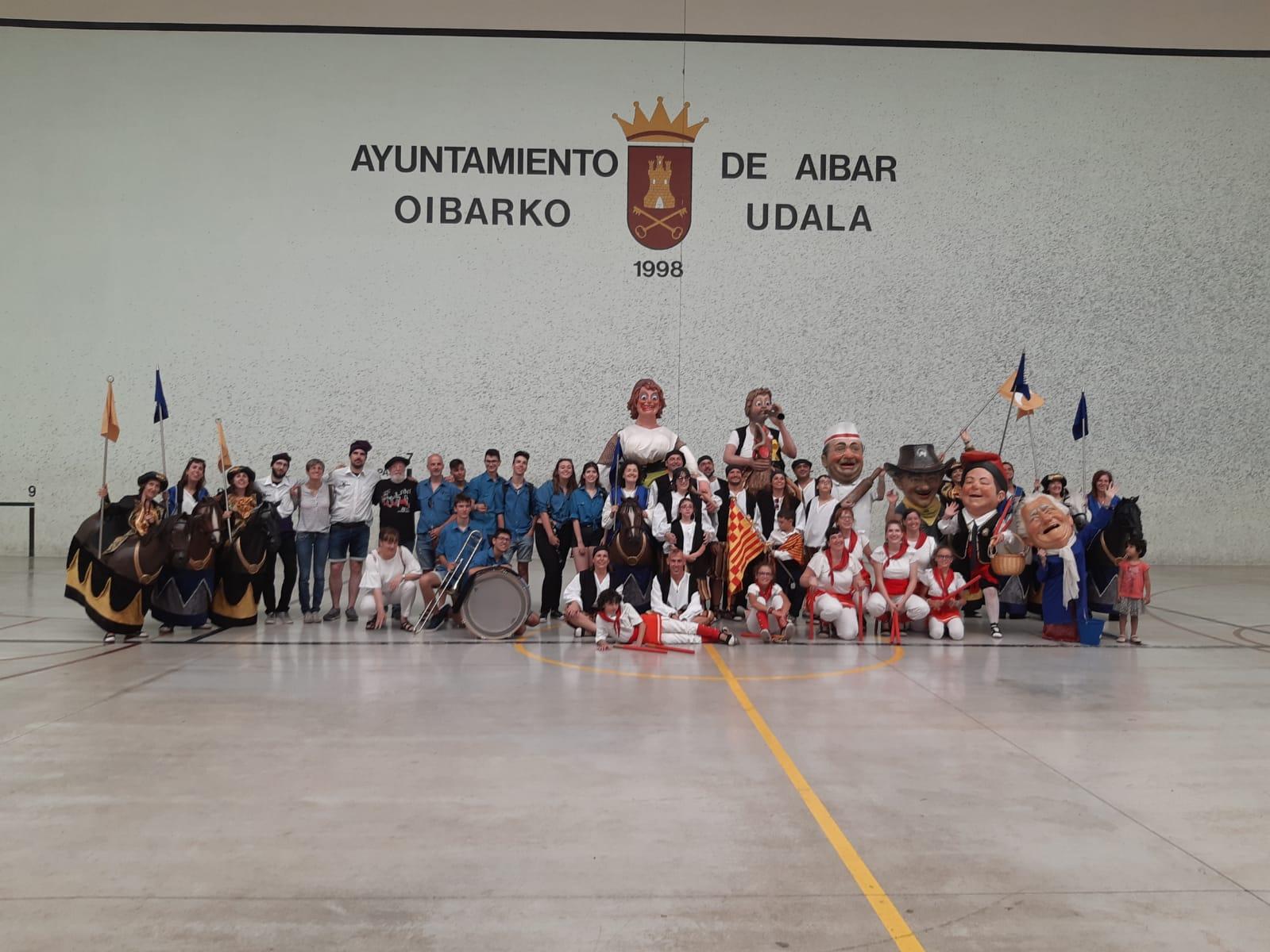 L'Associació Cultural Guixanet de Tàrrega ha actuat aquest cap de setmana a Navarra
