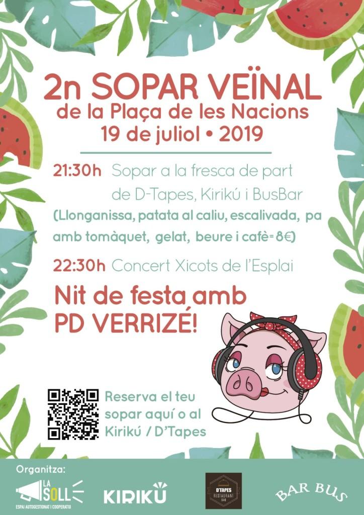 Cartell Festa Plaça Nacions 2019
