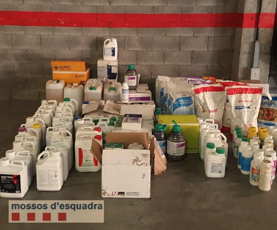 Els Mossos d'Esquadra detenen dos homes per tres robatoris i un furt en magatzems agrícoles del Segrià