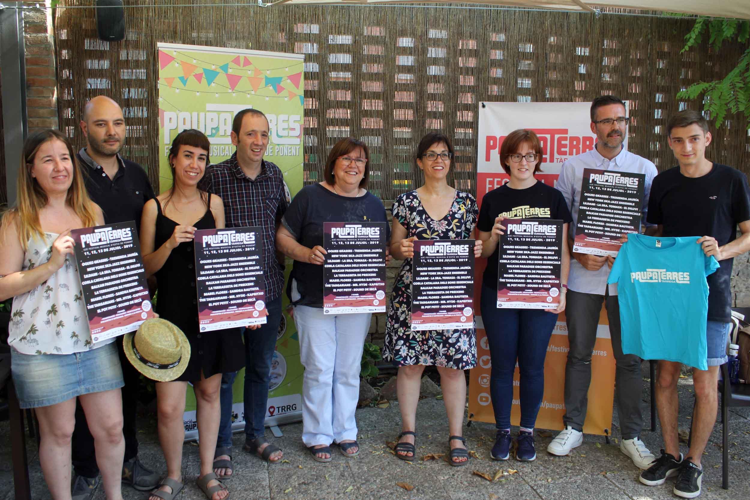 Tàrrega celebrarà de l'11 al 13 de juliol  el  Paupaterres, que concentrarà 16 formacions de l'actual escena musical