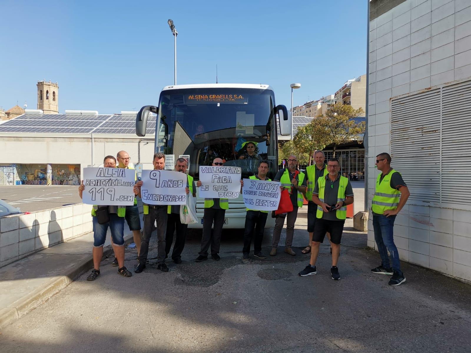 Protesta a Tàrrega dels treballadors  de l'Alsina Graells
