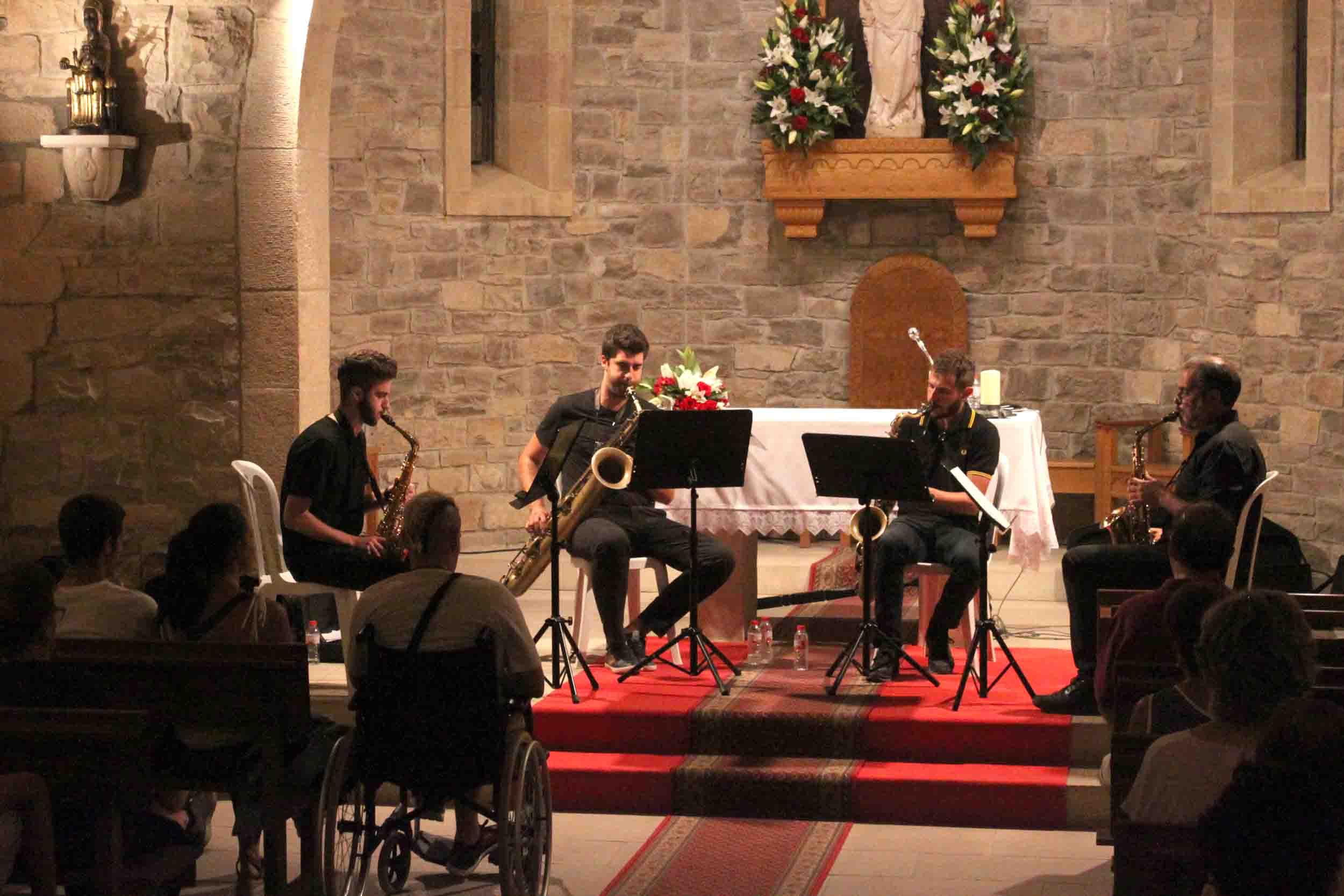 InMotion Sax Quartet omple de jazz l'ermita de Sant Eloi de Tàrrega