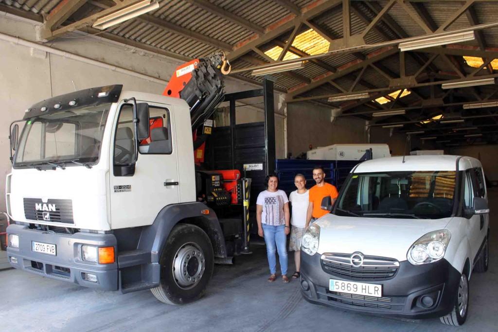 Els dos nous vehicles de la Brigada Municipal de Tàrrega