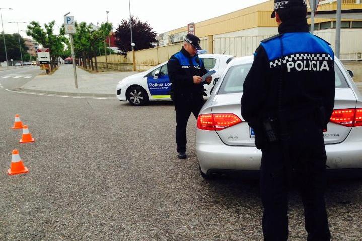 IMATGE D'ARXIU · Control de la Policia Local de Tàrrega