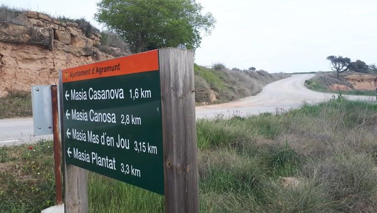 Inicien  les obres d'arranjament dels trams de camí entre Agramunt, Les Puelles i Oliola,