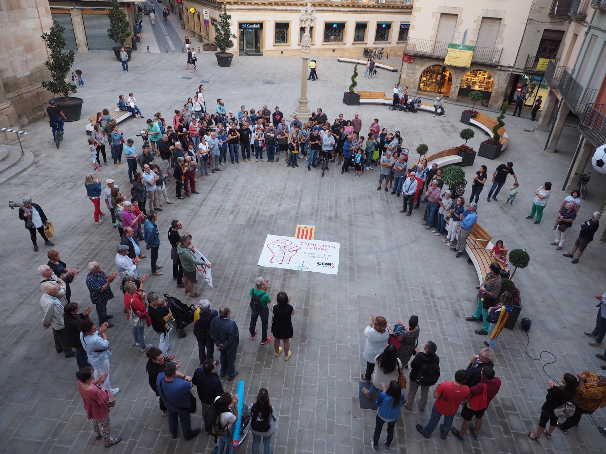 Concentració de protesta a Tàrrega per la detenció de membres dels CDR
