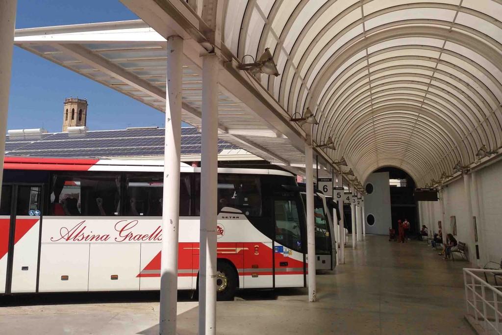 Actual estació d'autobusos de Tàrrega