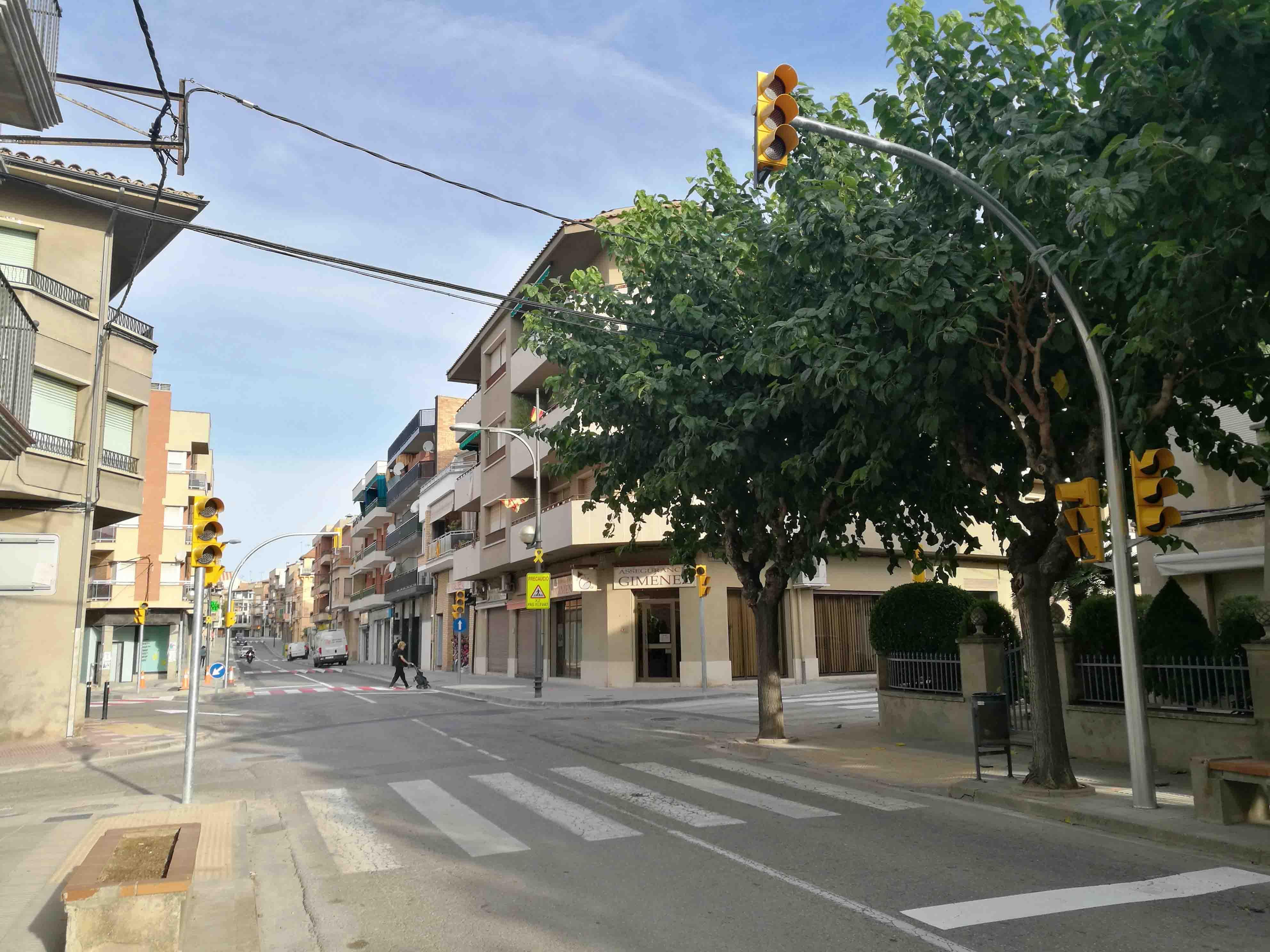 Nova regulació de trànsit a Agramunt desprès de les obres de l'Avinguada Jaume Mestres