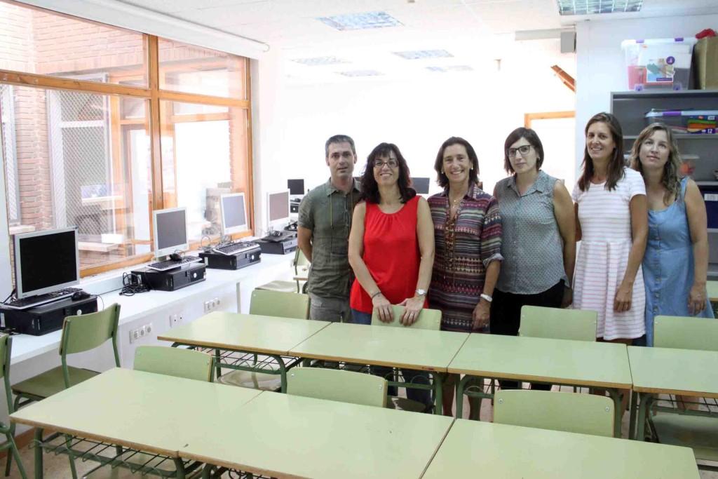 Visita a l'aula del PTT de Tàrrega, recentment ampliada