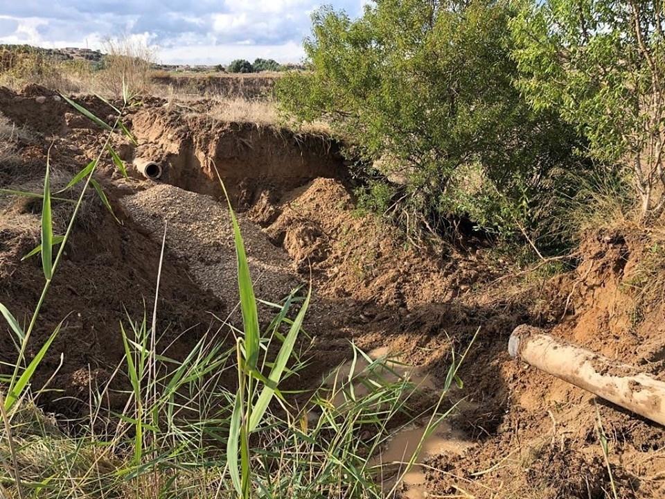 La forta llevantada deixa incidències en la xarxa d'abastament d'aigua de la Vall del Corb