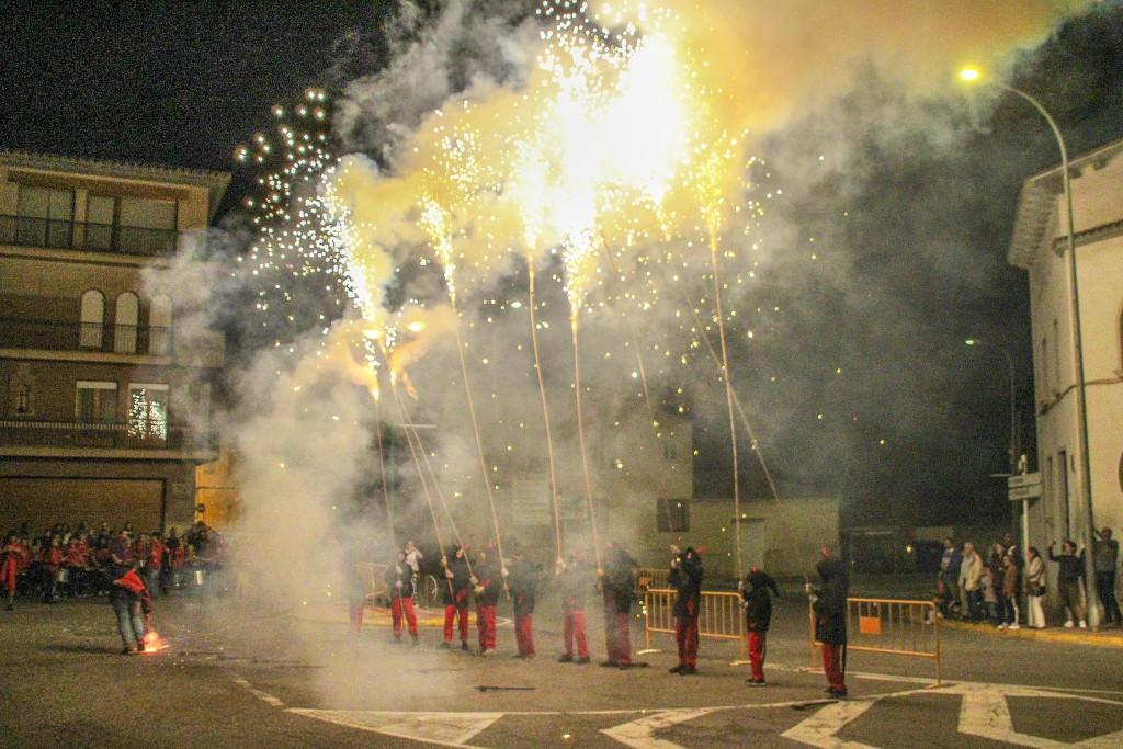 Festa 10 anys Espurnetes Foc Foll de Bellpuig Correfoc 1