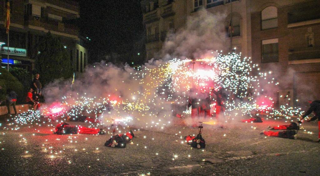 Festa 10 anys Espurnetes Foc Foll de Bellpuig Correfoc 2