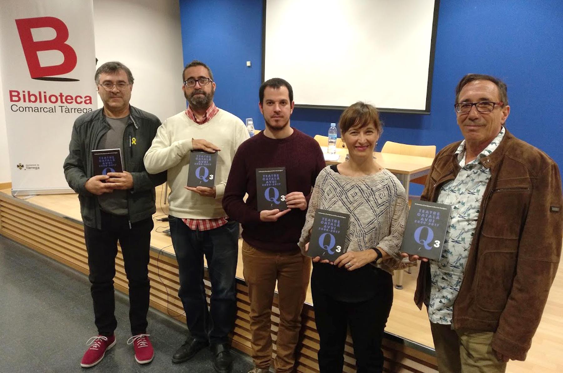 Presentació a Tàrrega del llibre 'Teatre català avui 2000 – 2017', un assaig col·lectiu que radiografia les arts escèniques actuals