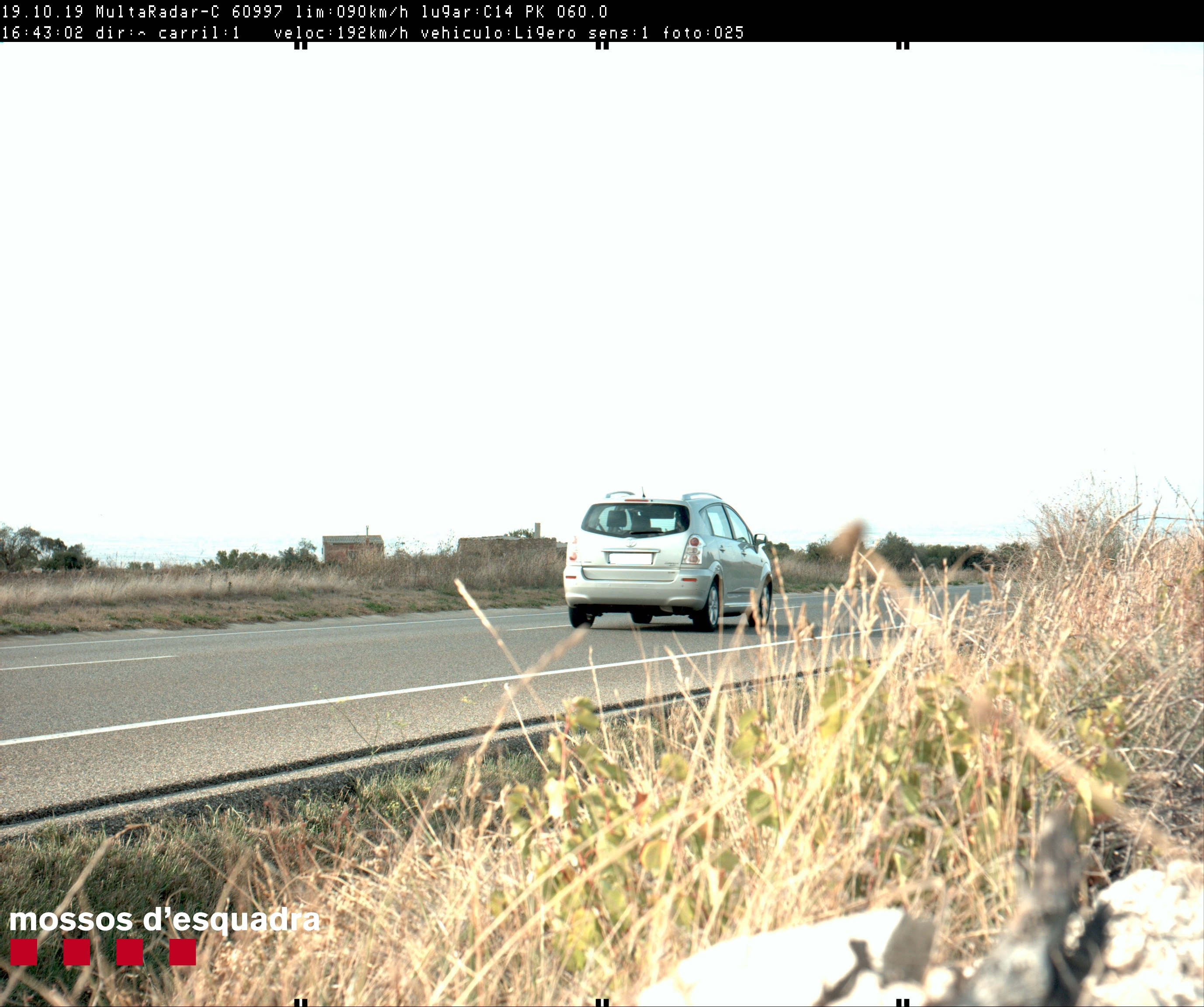 Els Mossos denuncien penalment un conductor per circular a 192 km/h per la C-14 a Ciutadilla (Urgell)