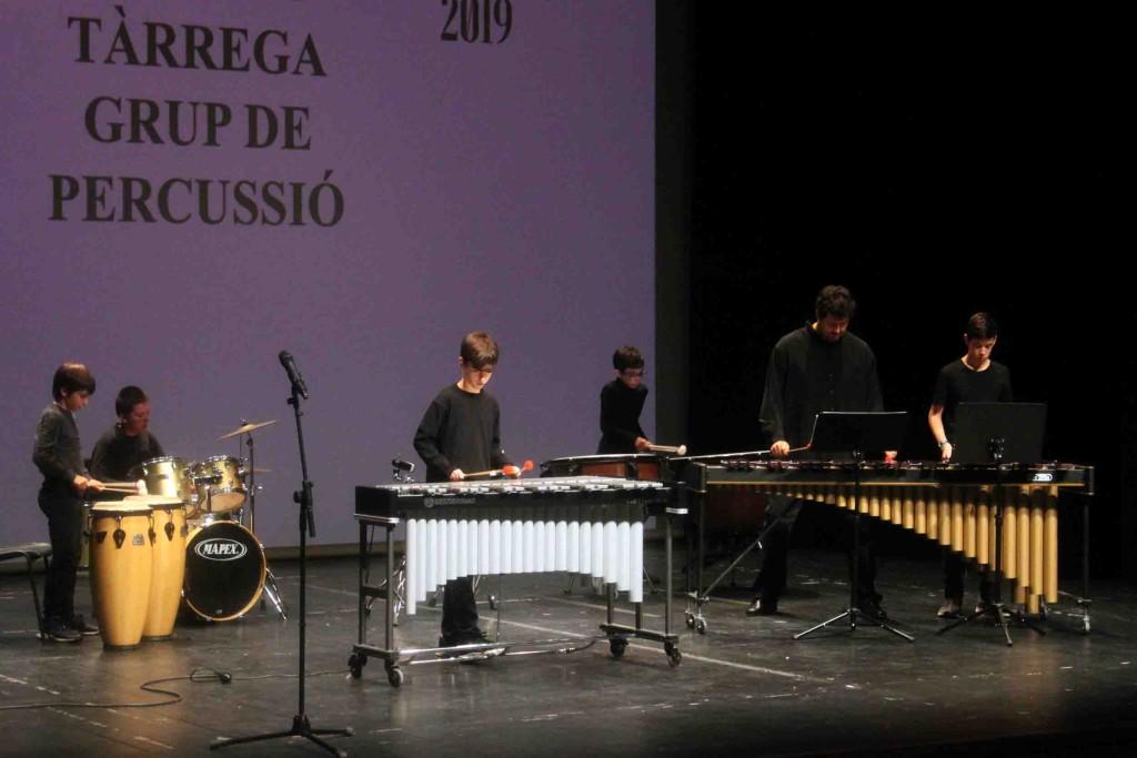 Actuació del grup de percussió de l'EMMT