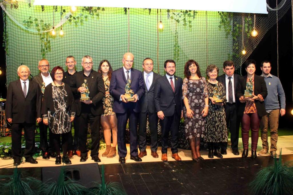 Foto de grup dels Premis Culturàlia 2019 de Tàrrega
