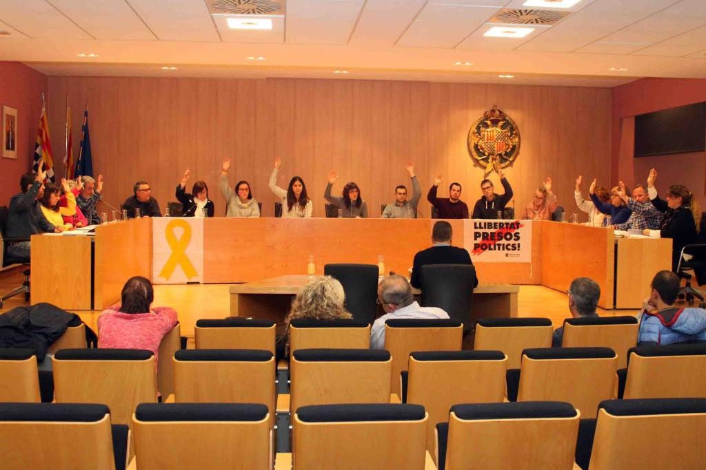 Una de les votacions per unanimitat del Ple del dijous 28 de novembre