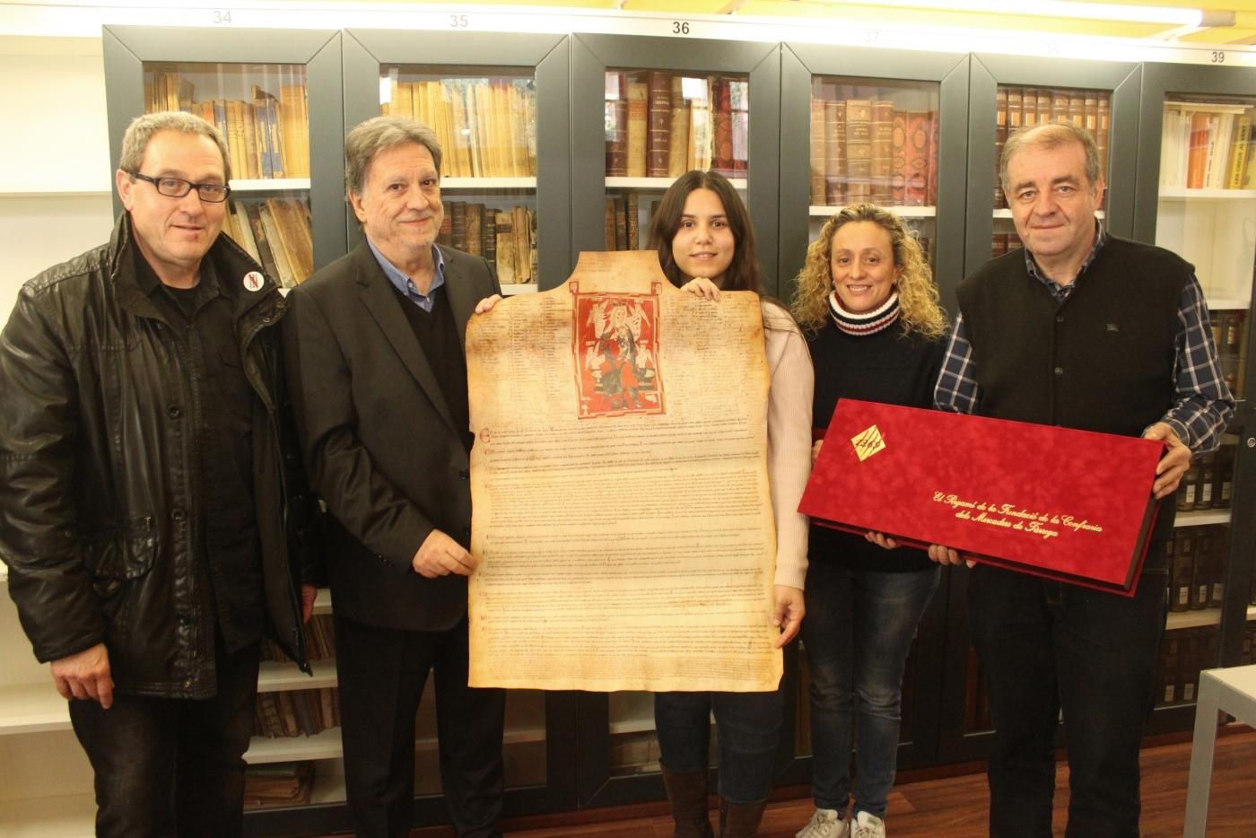Publiquen una reproducció del pergamí de la confraria dels mercaders de Tàrrega datat l'any 1269
