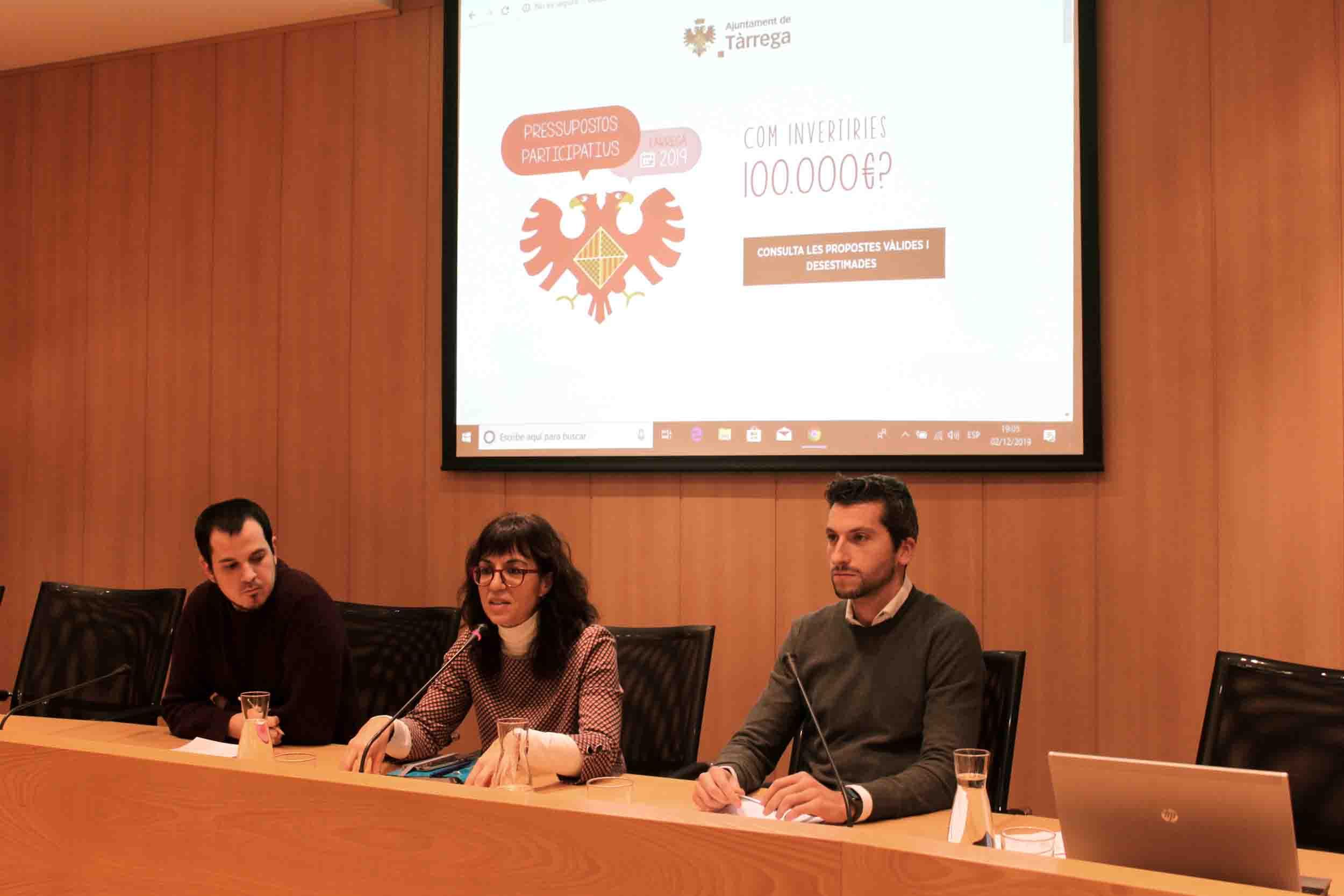 Fòrum ciutadà per debatre 76 propostes formulades en el marc dels pressupostos participatius de Tàrrega