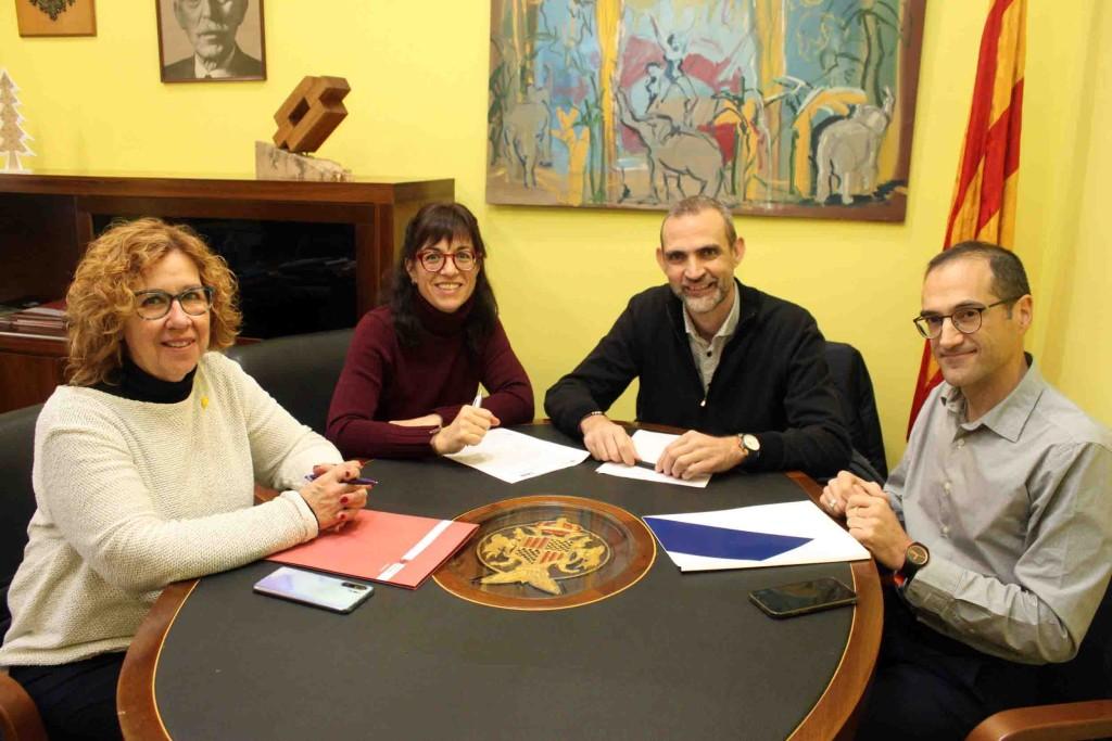 Signatura del conveni entre Sorea i l'Ajuntament de Tàrrega