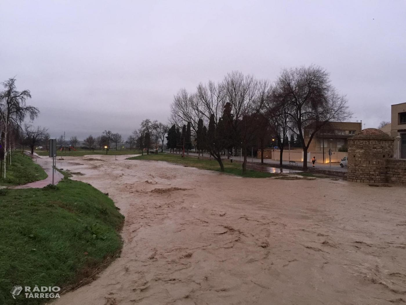 En alerta als municipis pròxims als rius Ondara, Sió i Corb