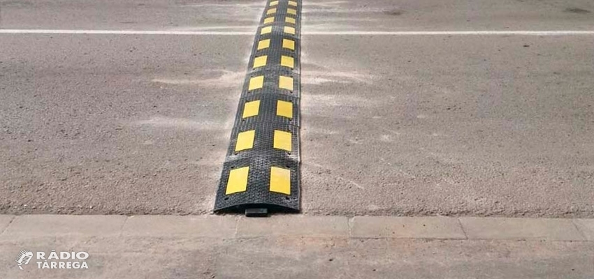 La setmana vinent s'iniciarà la segona fase d'instal·lació de bandes reductores de velocitat a Tàrrega