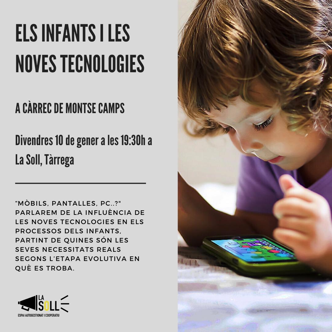 La Soll organitza divendres a les 19.30h una xerrada sobre 'Els Infants i les noves tecnologies'