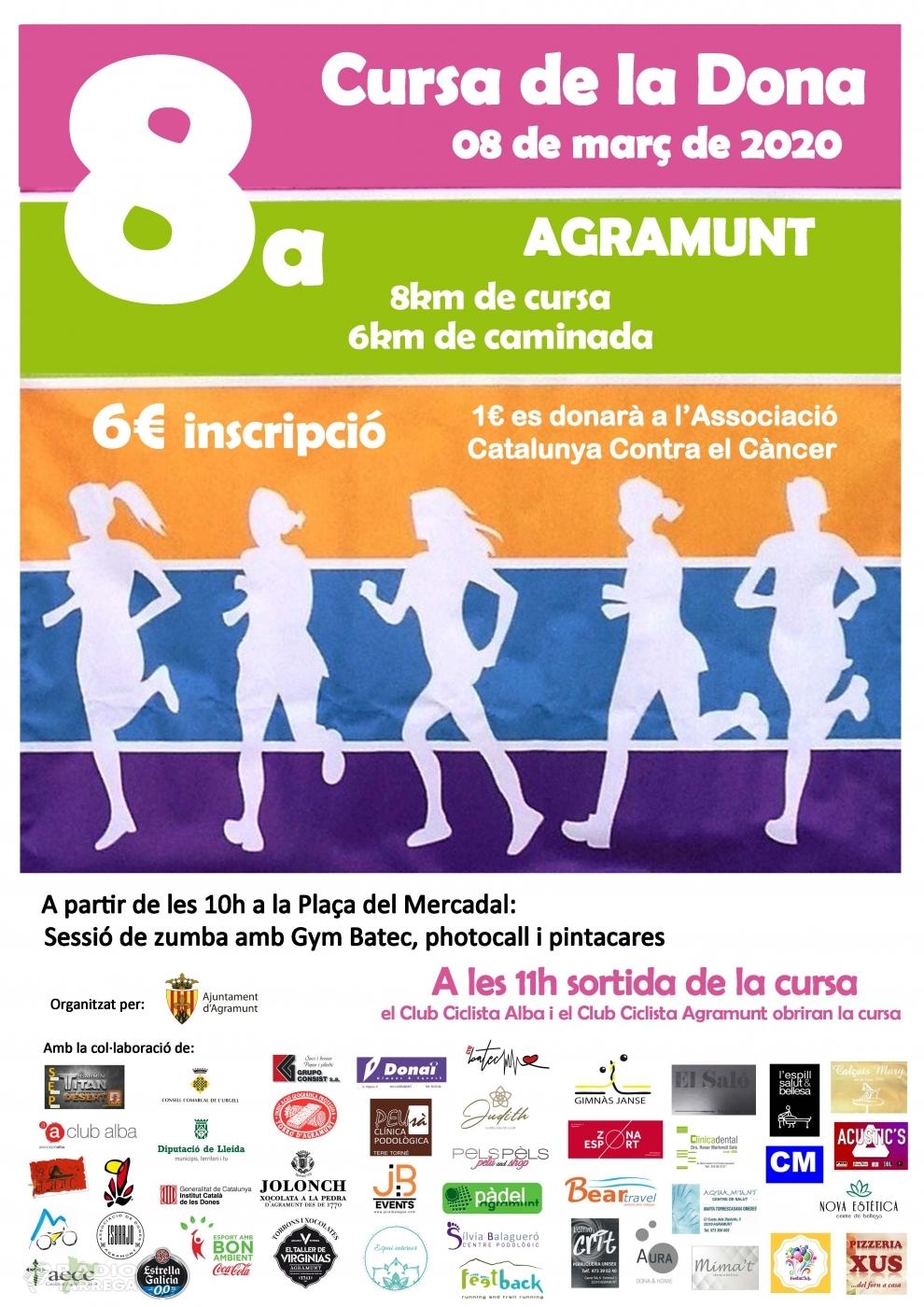 La vuitena edició de la Cursa de la Dona d'Agramunt serà l'edició que comptarà amb més participants