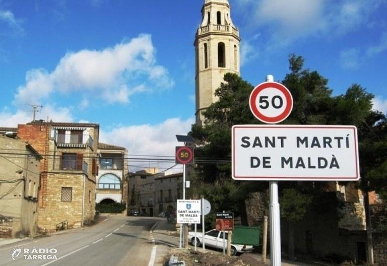 L'Ajuntament de Sant Martí de Maldà informa d'un cas de coronavirus a la població