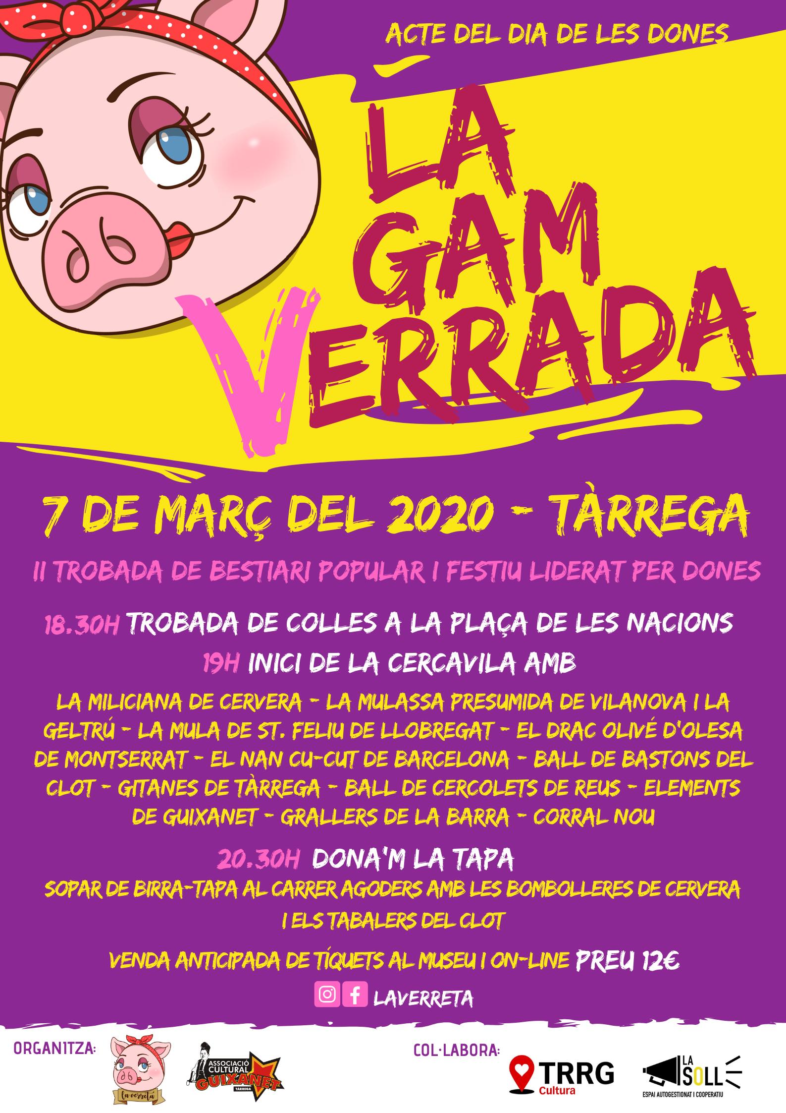 La GamVerrada 2020 comptarà amb la participació de set grups de fora de la ciutat.