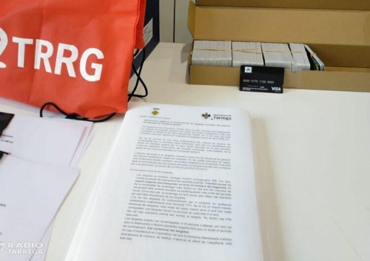 L'Ajuntament de Tàrrega ha començat a repartir les targetes moneder per a les famílies que reben ajuts de menjador