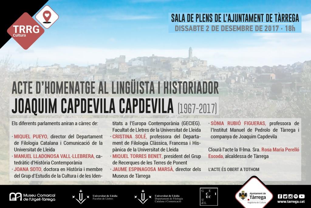 Acte d'homenatge a Joaquim Capdevila
