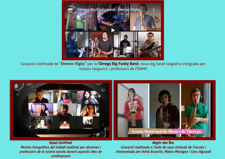 L'Escola Municipal de Música de Tàrrega trasllada l'activitat docent a una nova aula virtual