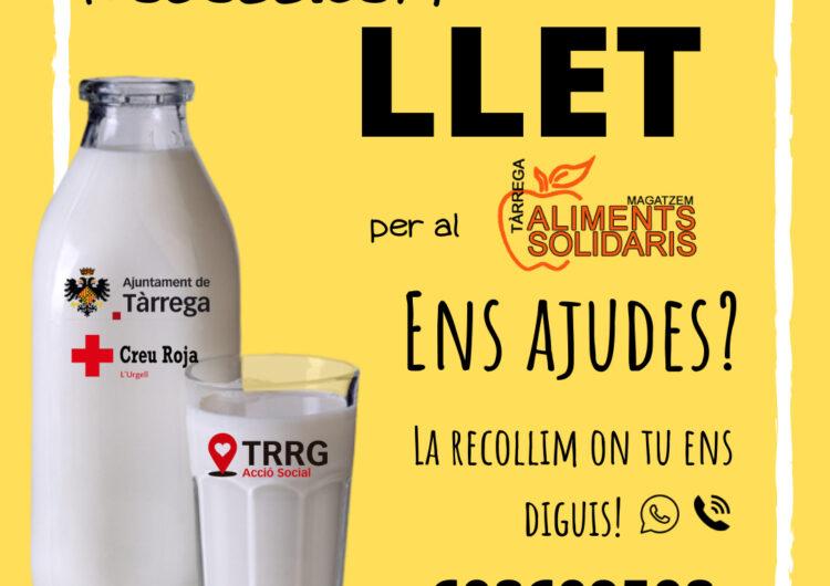 Tàrrega inicia una campanya per recaptar llet a favor del Magatzem d'Aliments Solidaris del municipi