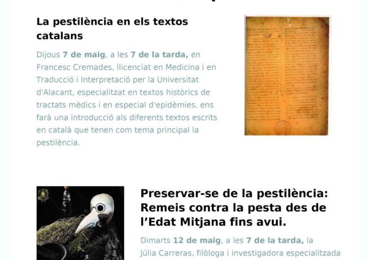El Museu Tàrrega Urgell oferirà per via telemàtica un programa de conferències sobre la pandèmia de la pesta a l'Edat Mitjana