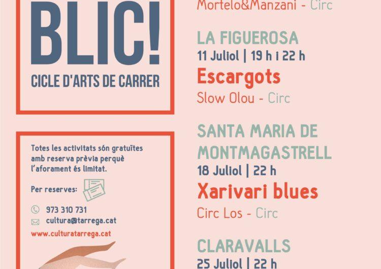 Cicle estival d'arts escèniques del 4 al 25 de juliol en pobles del municipi de Tàrrega