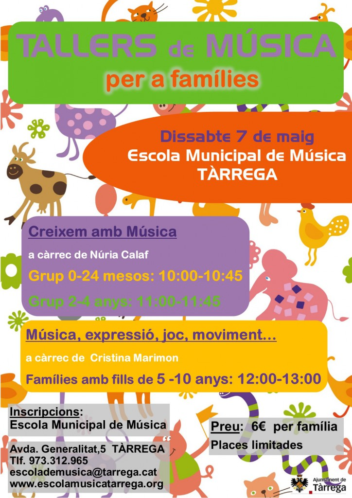 Cartell tallers familiars 7 maig