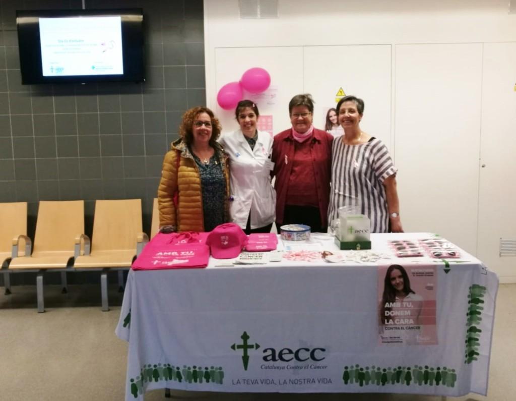 Foto DM Càncer mama amb regidora de salut 2019