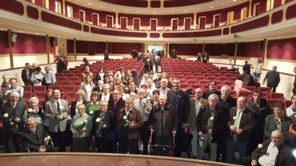 Foto conjunta amb tots els testimonis que han fet possible la realització del dvd