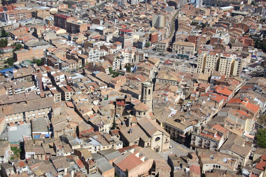 IMATGE D'ARXIU · Vista general del nucli urbà de Tàrrega