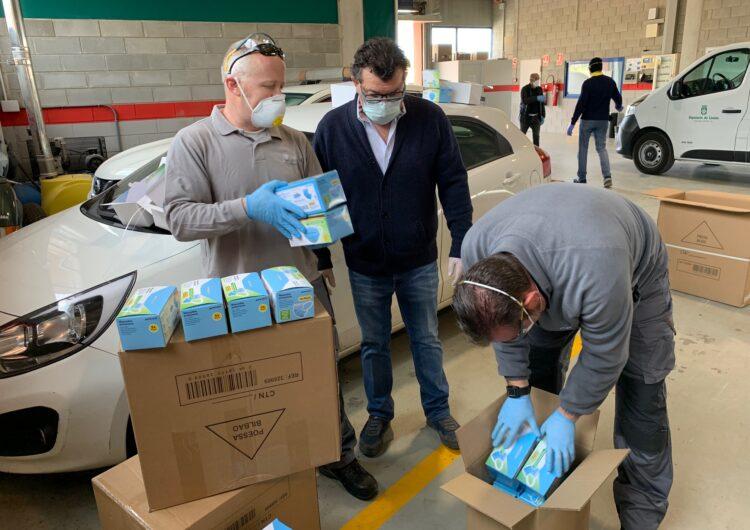La Diputació de Lleida reparteix 50.000 mascaretes i 1.200 ulleres de protecció entre els ajuntaments