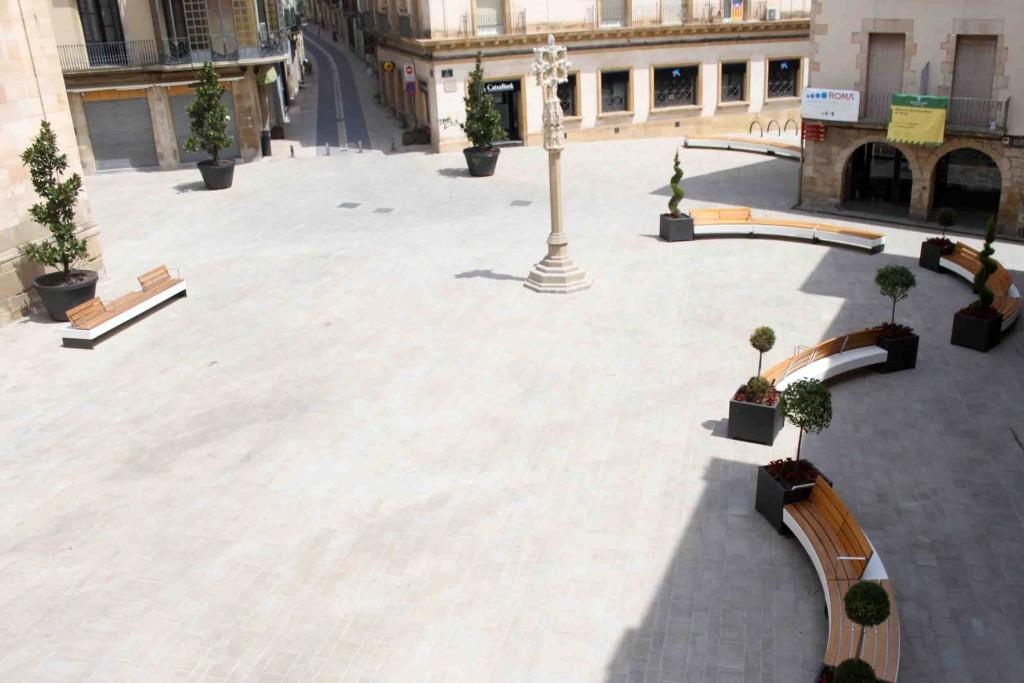 Imatge actual de la plaça Major de Tàrrega