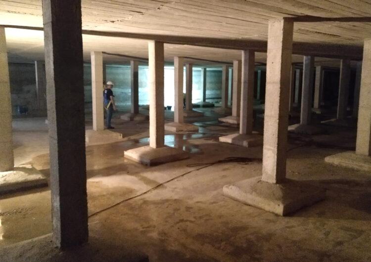 L'Ajuntament de Tàrrega repara filtracions en un dels dipòsits de subministrament d'aigua de boca